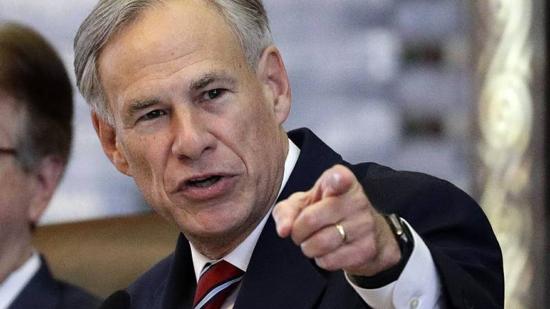 In this Feb. 5, 2019, file photo, Texas Gov. Greg Abbott gives his State of the State Address...