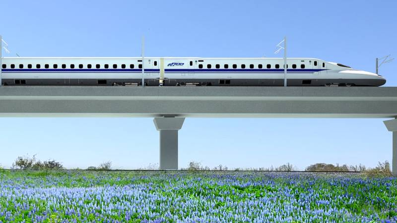 A rendering of the high-speed train. (Texas Central Partners)