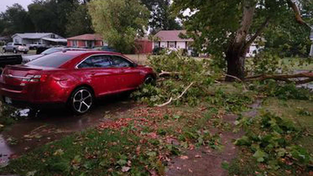 Here is a look at some of the damage from last night from Burkburnett. Photo by Samantha...
