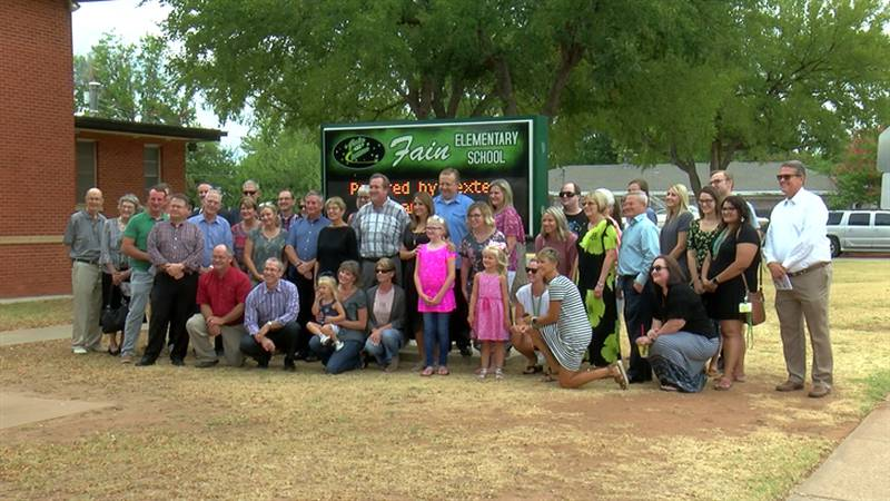 Church members came together Sunday afternoon to pray for the upcoming school year. (Source:...