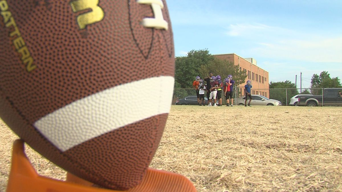 The Wichita Falls Panthers United football team practicing for the season. / Source: KAUZ