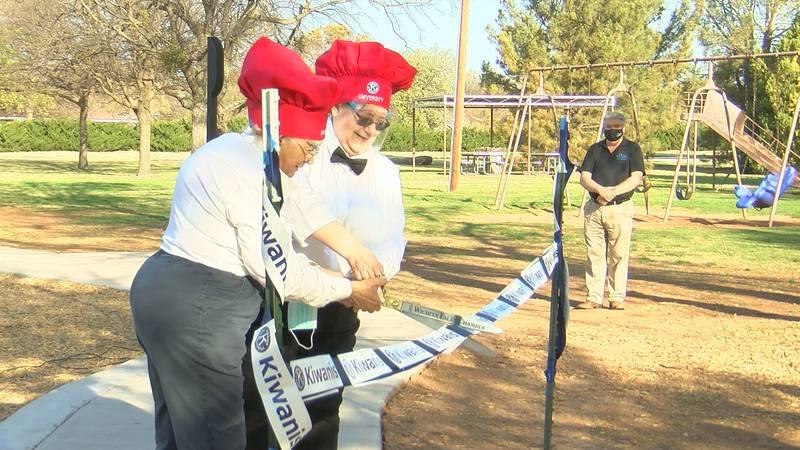University Kiwanis Club celebrates opening of playground