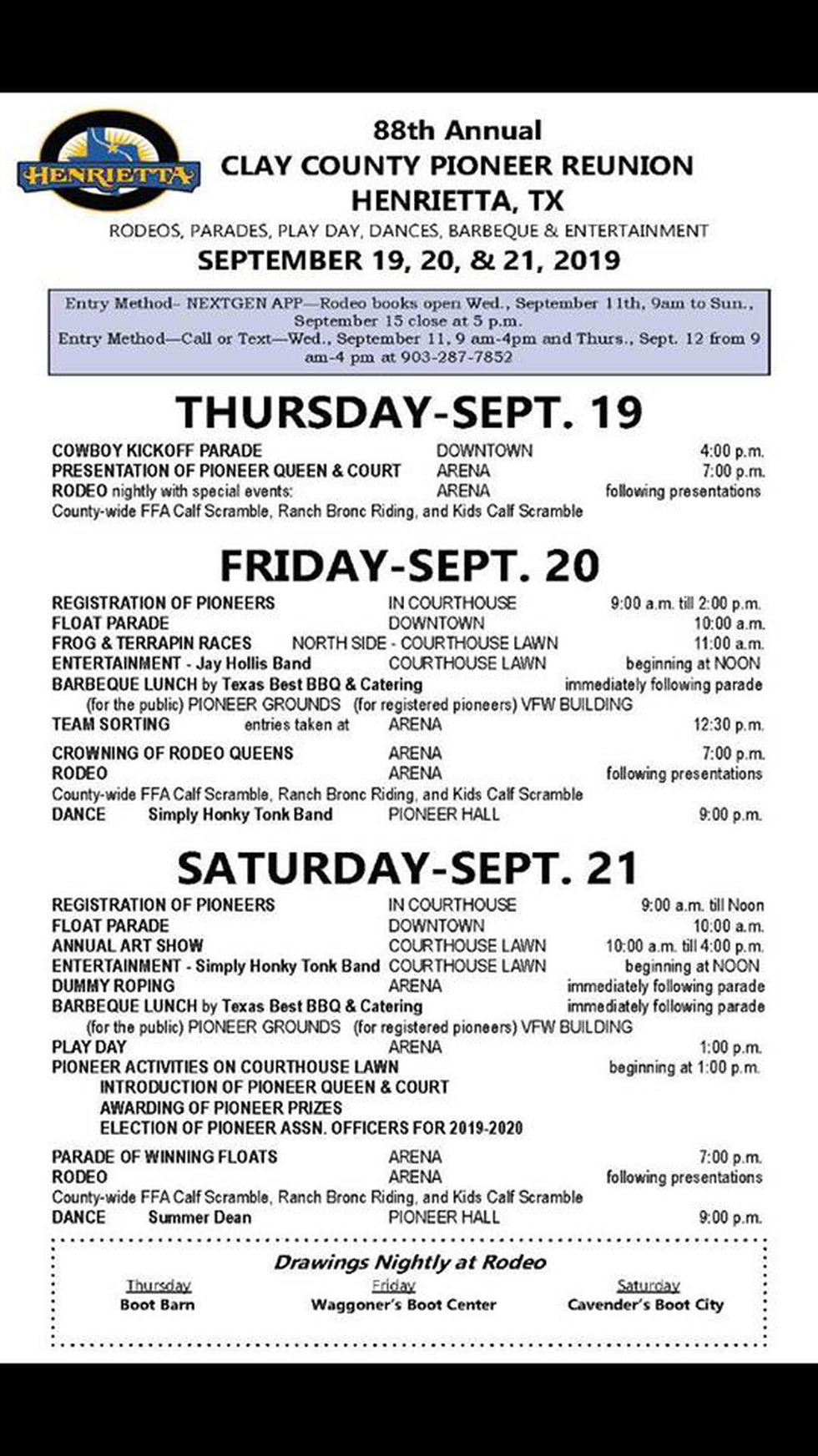 Grab a closer look at all the events happening this weekend in Henrietta as they gear up for...