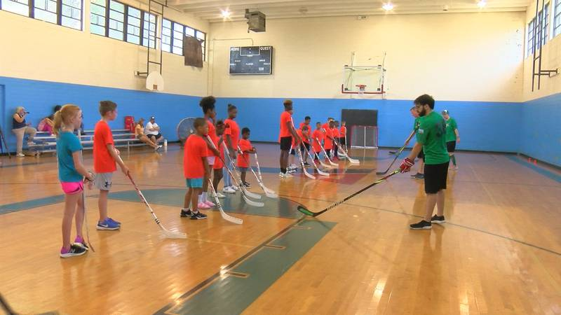 Students got a chance to test out a sport that made its way to North Texas from Europe