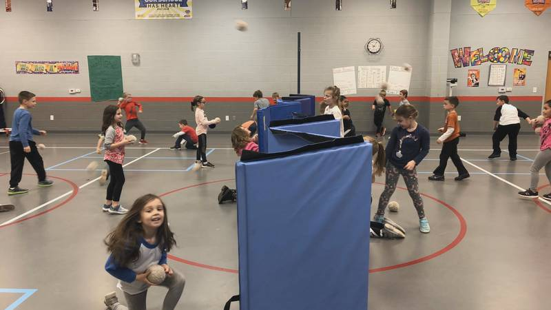 These Holliday ISD students are getting ready for a good old-fashioned snowball fight.