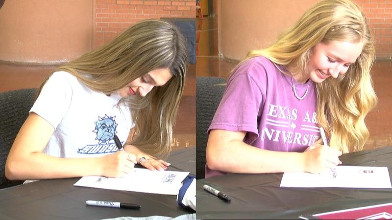 On Monday, Burkburnett High School seniors got the chance to make their announcement in a...