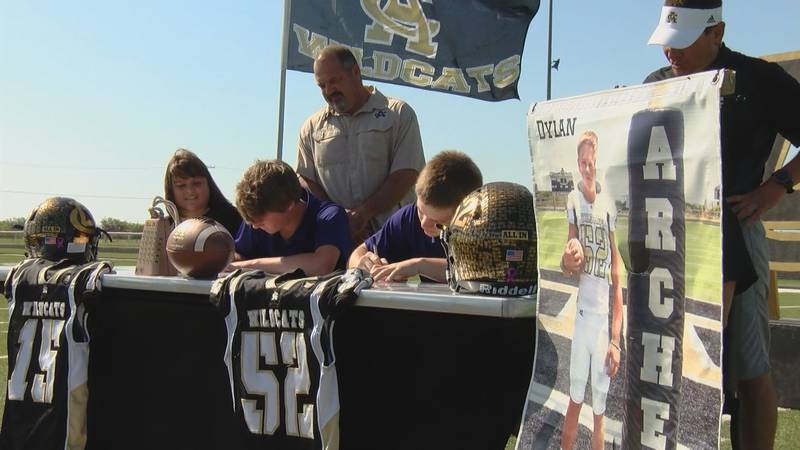 Archer City's Kade Dagley (left) and Dylan Briggs (right) are headed to New Mexico Highlands...