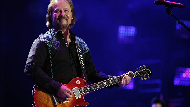 In this Friday, June 6, 2014 file photo, Travis Tritt performs during the CMA Fest at LP Field...