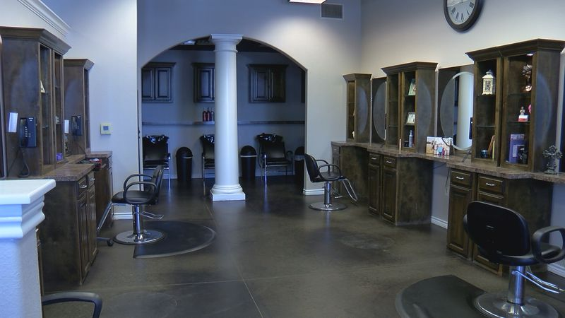 Serenity Salon Spa and Boutique has moved stations to meet social distancing requirements.