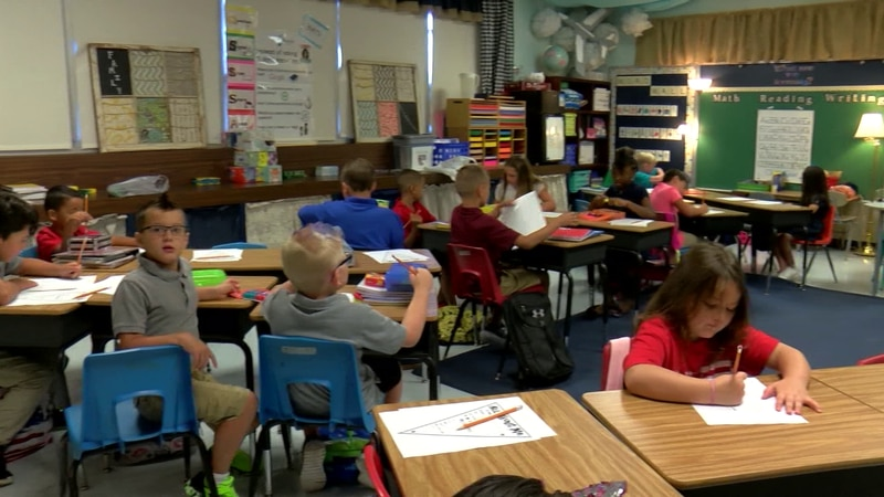WFISD students and teachers made their way back into their classrooms Thursday morning.