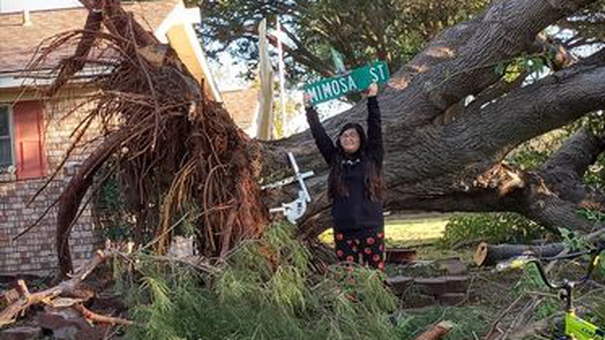 Here is a look at some of the damage from last night from Burkburnett. Photo by Rebekah Newman.