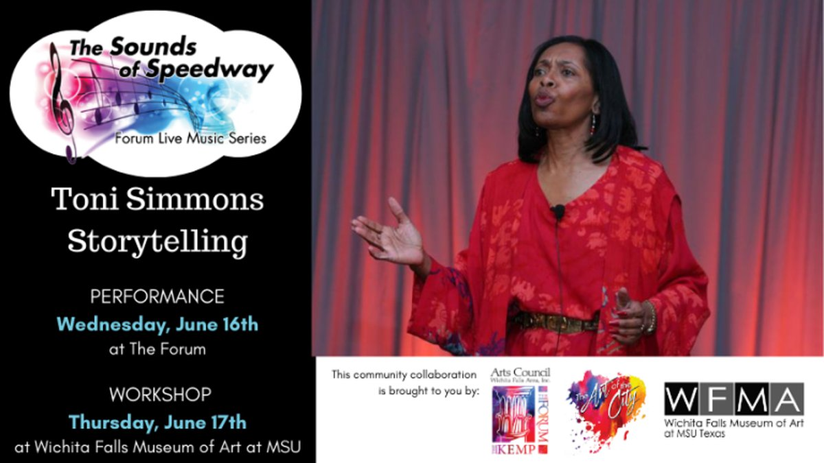 """The first concert is """"Storytelling with Toni Simmons,"""" set for 7 p.m. Wednesday, June 16th at..."""
