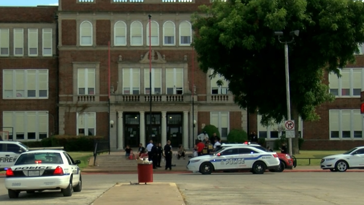 Agencies responded to a reported bomb threat at Old High.