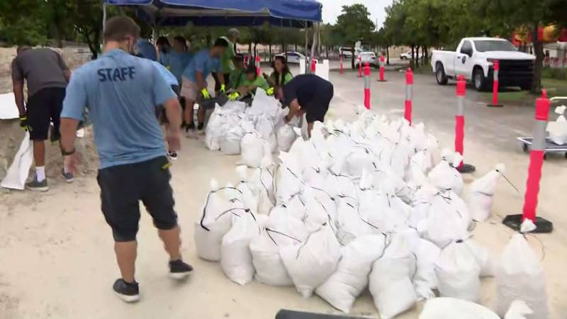 Residents in South Florida prepare for Tropical Storm Fred with sandbags. The system could make...
