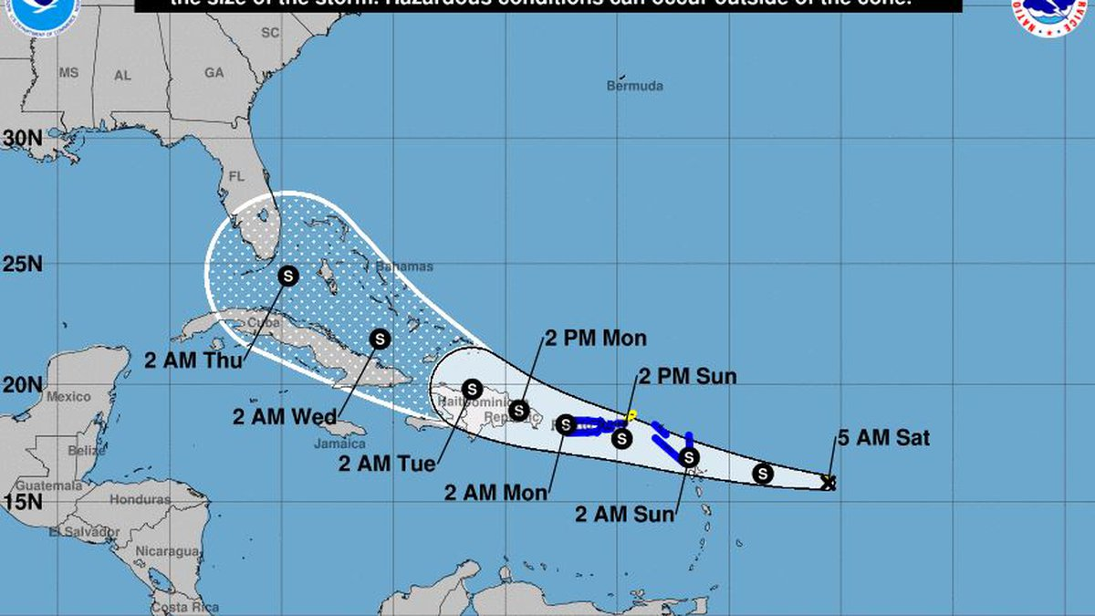 After the formation of Tropical Storm Grace, a tropical storm warning was issued for the U.S....
