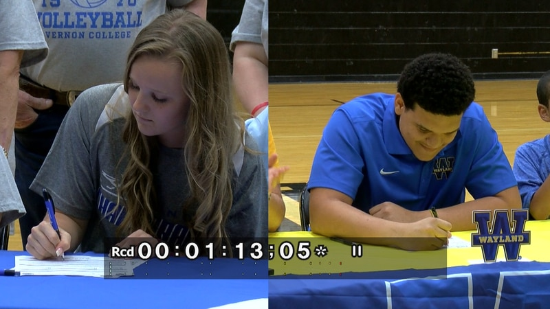Two more Texoma student-athletes have committed to playing their sport at the next level.