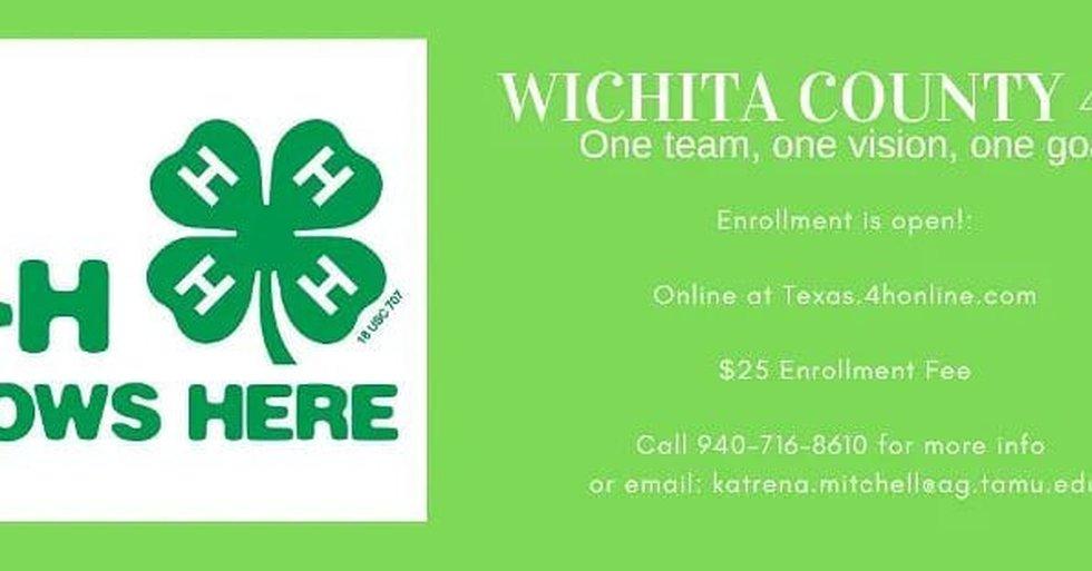 Wichita County 4-H enrollment now open