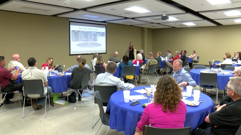 The Wichita Falls Chamber of Commerce hosts military lunch on Wednesday.