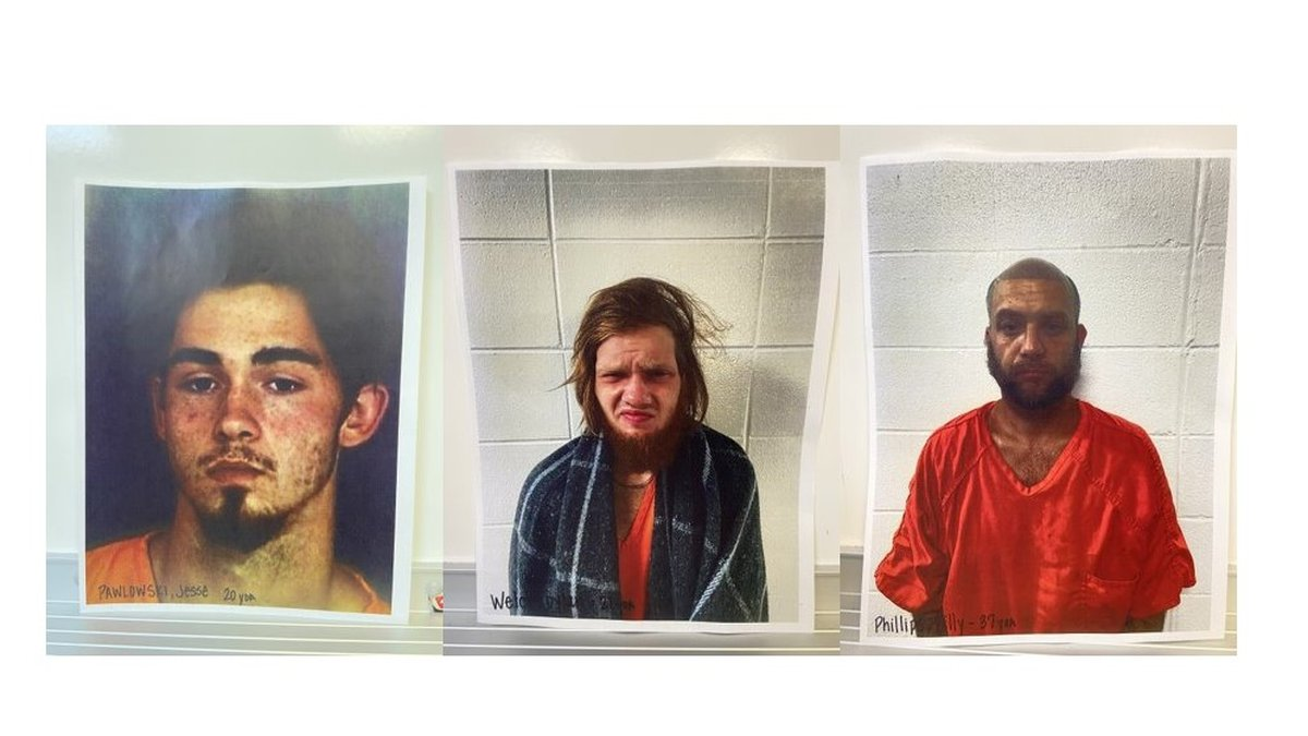 Jesse Pawlowski, Dylan Welch and Billy Phillips (Source: Cherokee County Jail)