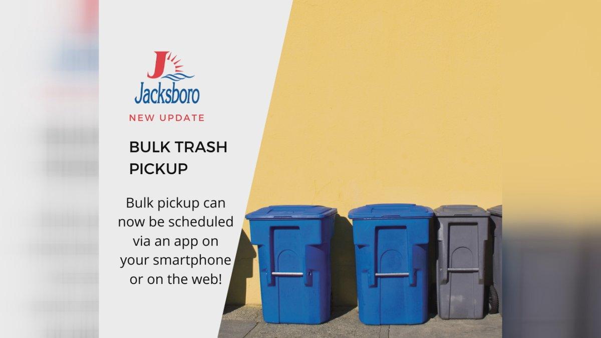 Residents in Jacksboro can now schedule their bulk trash pickup through an app.