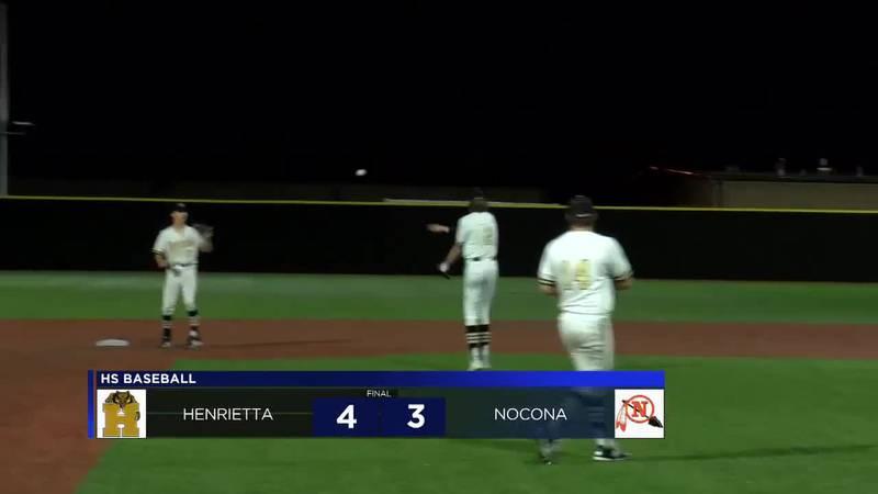 Henrietta vs Nocona baseball highlights