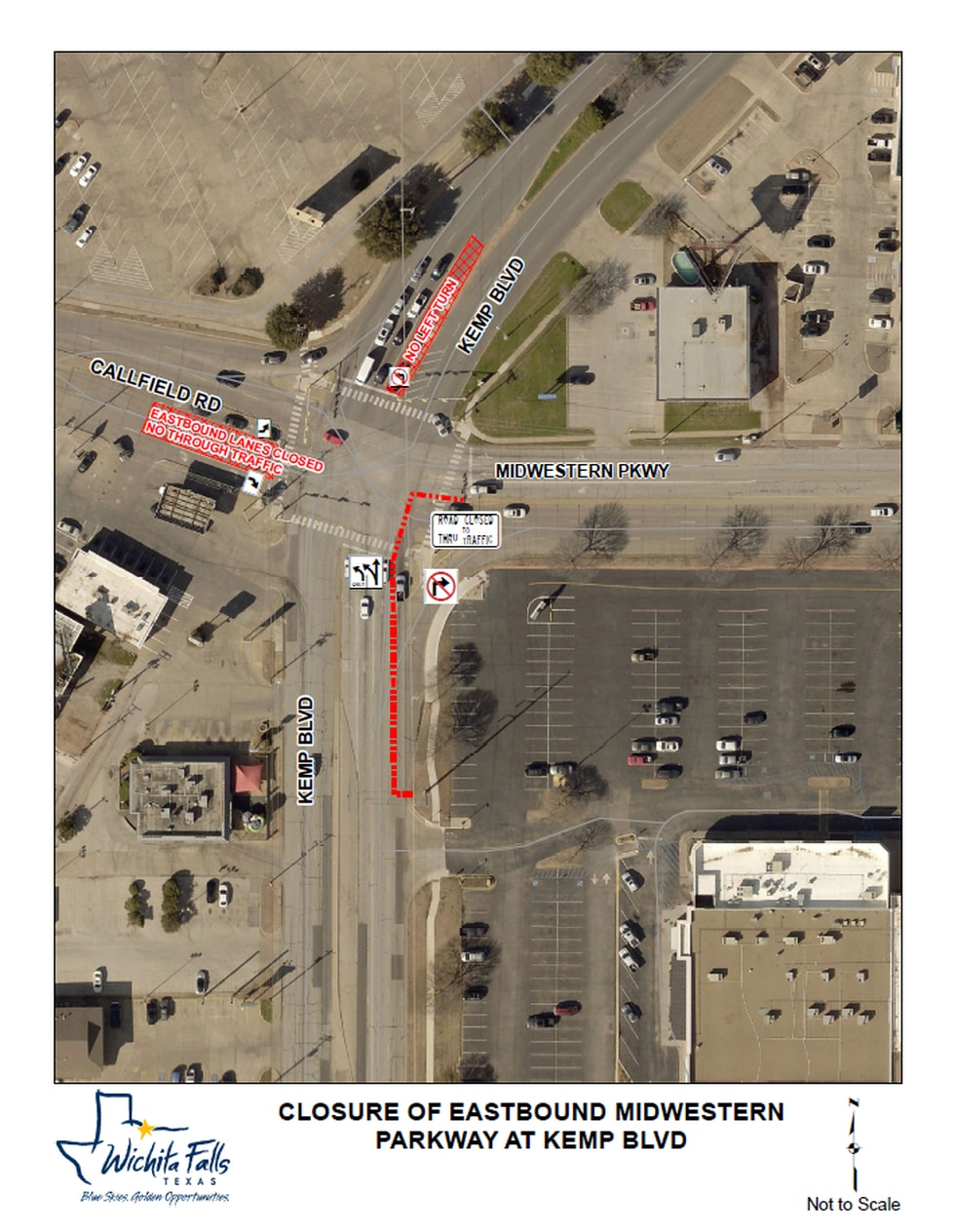 Lanes of Midwestern Parkway and other roads will be closed during the repair, which will also...