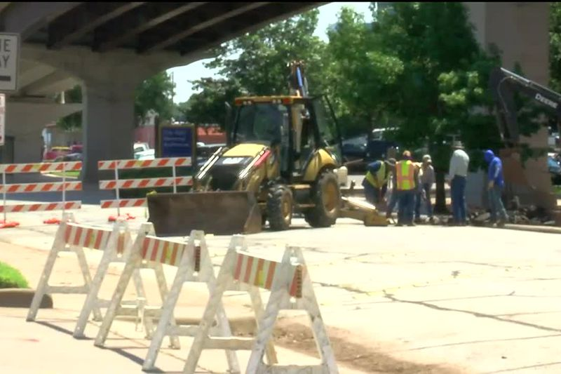 Construction on Memorial Auditorium Sewer Project begins
