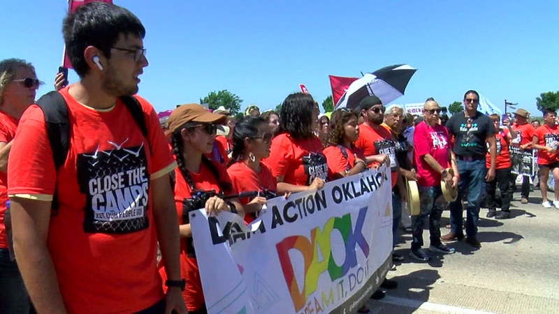 Some Wichita Falls residents were at the 'Close the camps' protest over the weekend in hopes...