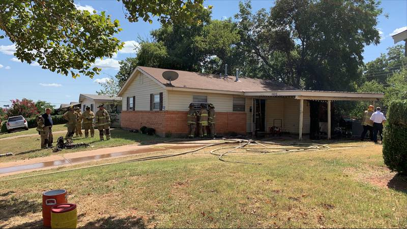 A fire broke out in a home on Red Fox Wednesday afternoon.