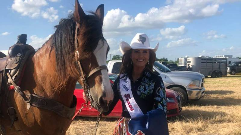 One of Texoma's own gets to wear the white buckle hat and sash this year: Archer City native...