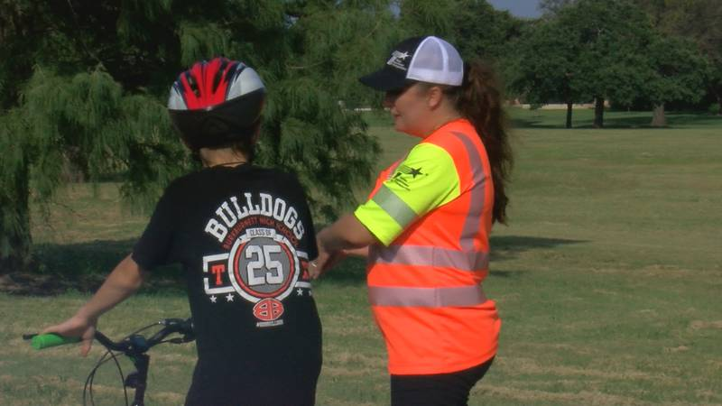 During the event riders of all ages could get fitted for a free bike helmet and learn some...