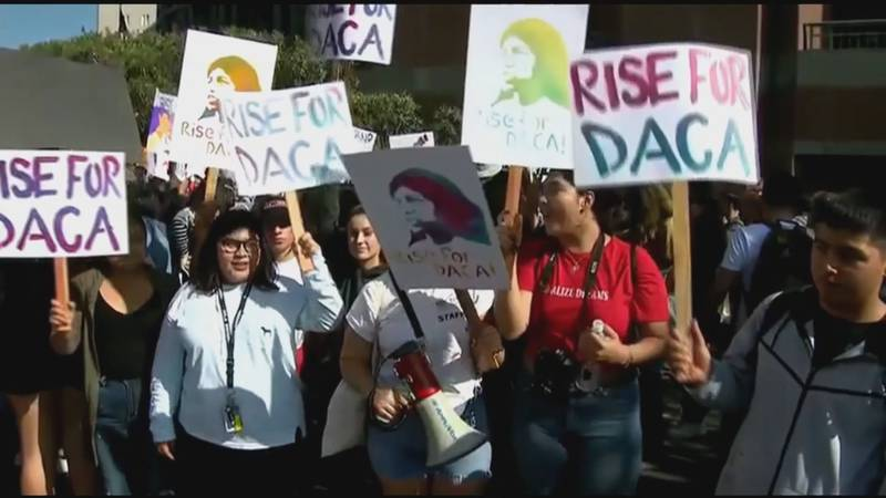 DACA recipient fight for protections.