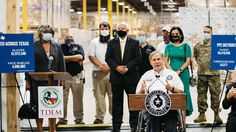 Governor Abbott Provides Update On PPE Distribution To Texas Schools