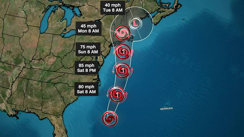 The threat of a rare hurricane strike has parts of the northeast United States on edge.