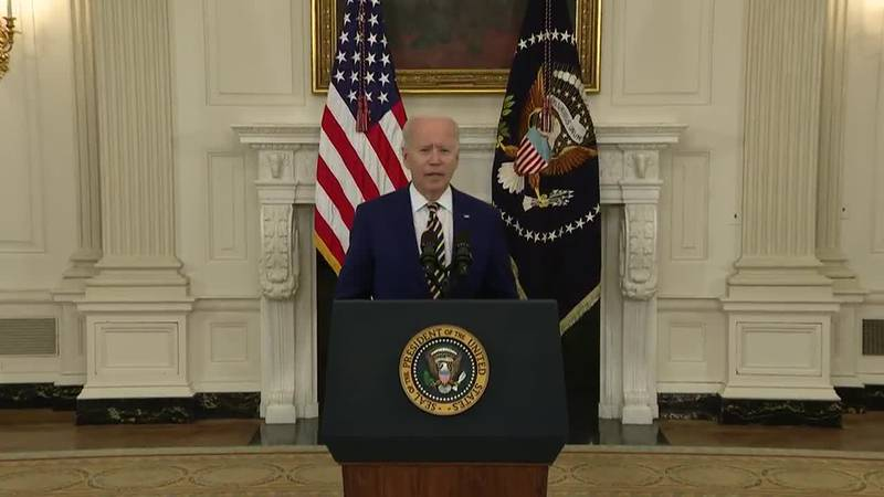 President Joe Biden touts 300 million vaccine shots administered, as the fight continues over...