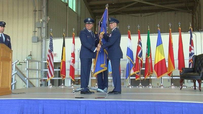 Col. Russell Driggers assumes command of SAFB 80th FTW. (Source: KAUZ)