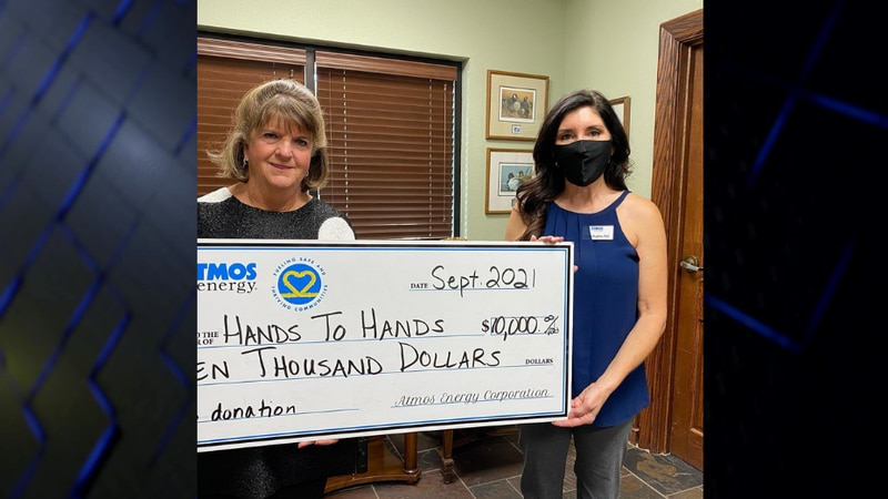 Atmos Energy makes $10K donation to Hands to Hands Community Fund