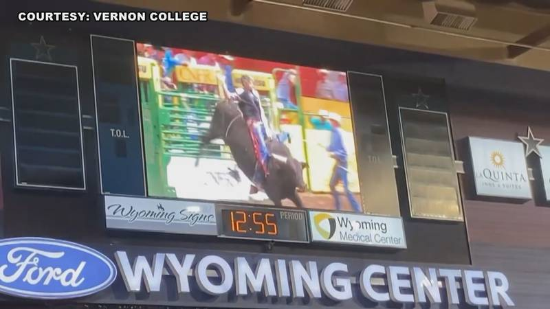 A Vernon College bull rider has hit the big stage and is representing Texoma at the College...
