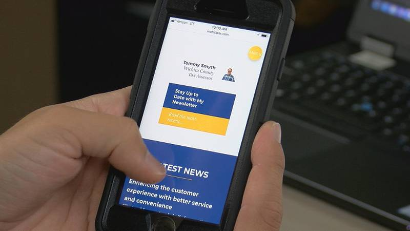 The new tax website and app are designed to be more accessible to Wichita county residents.