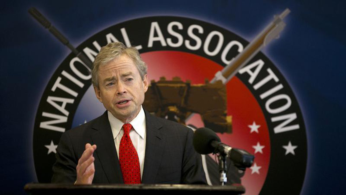 In this Jan. 15, 2015 file photo, then-Texas Sen. Don Huffines speaks during a news conference...