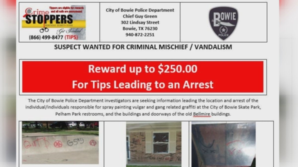 Bowie Police are investigating vulgar and gang-related graffiti spray-painted at the Bowie...