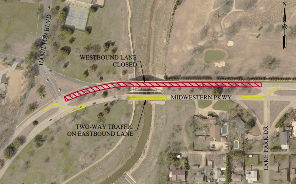 Repairs on the Midwestern Parkway north bridge that crosses Holiday Creek are set to start...