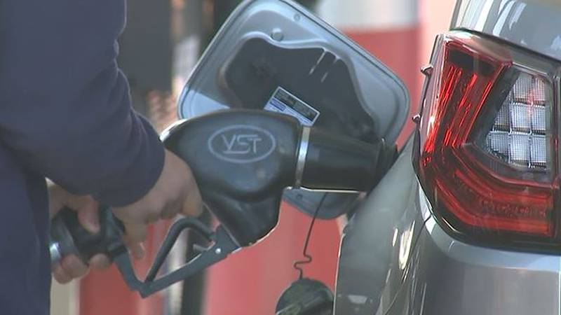A survey of more than 5,000 gas stations conducted by AAA shows that the average price for a...