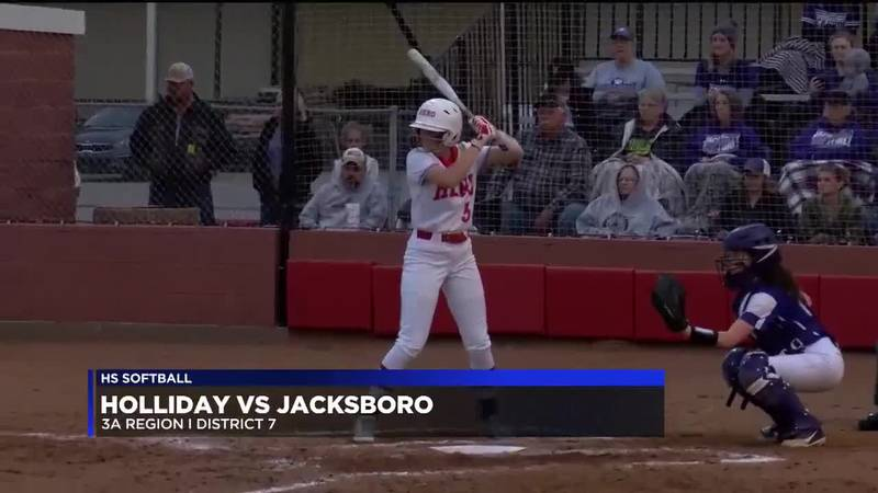 Holliday vs Jacksboro softball highlights