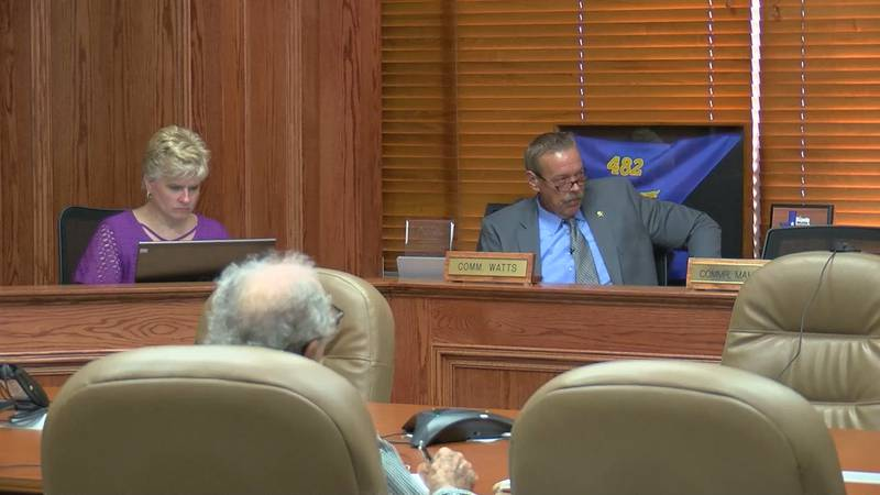 Commission discuss potential budget concerns.