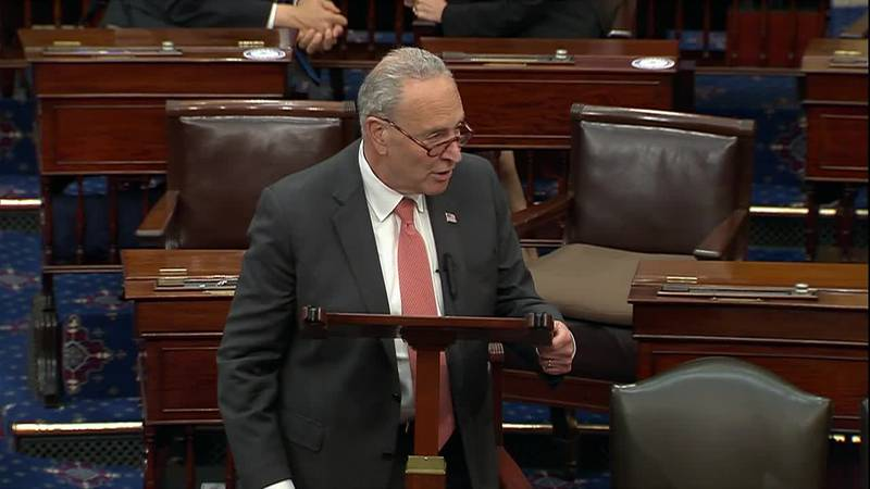 Sen. Schumer spoke on the Senate floor after Republicans blocked the Democrats' voting rights...
