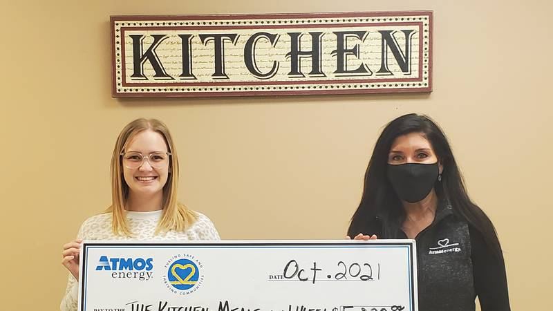 Pictured left to right: Amanda Culley with The Kitchen and Pam Hughes Pak with Atmos Energy