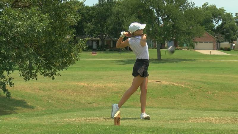 MSU commit Kodi Nolen (Waxahachie) at hole one during round two of the Texas-Oklahoma Jr Golf...