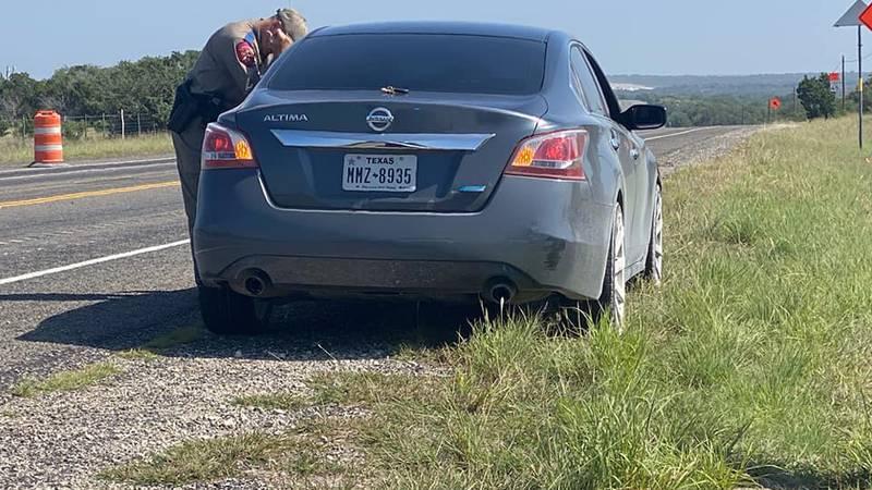 Four suspected illegals found in car