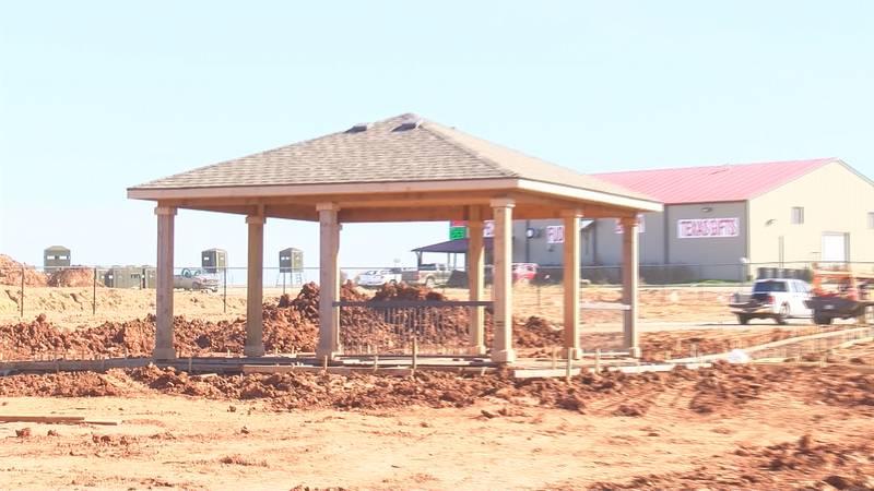 Construction on new senior living community  in Henrietta.